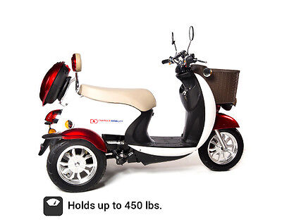 3 Wheel  Electric 2-Person Fast Mobility Scooter W/storage - Free Shipping