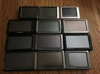 Wholesale lot Of -12- Garmin & Nuvi GPS Units Sold as-is