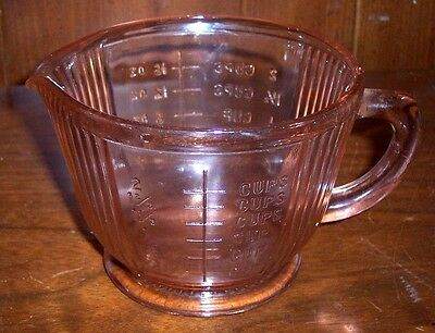 Anchor Hocking 16 Oz Queen Mary /old Colony Pink Depression Glass Measuring Cup