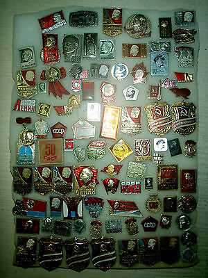 91  pin badge  Lenin   different    USSR (Russia)  № 23