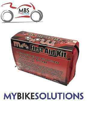 Motorcycle Motorbike Under Seat Compact Travel First Aid Kit Ready To Use