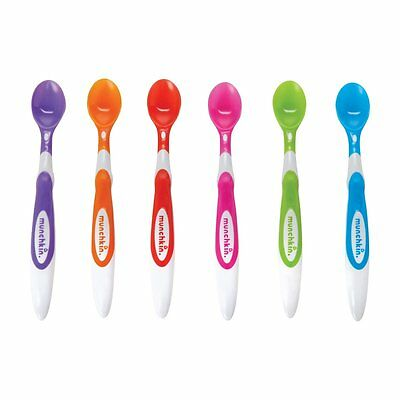 Munchkin Soft Tip Infant Spoons - Multi-Coloured, Pack of 6  **FREE DELIVERY**