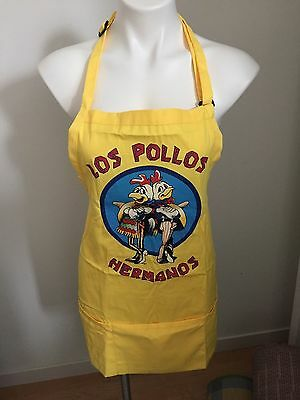 NEW Loot Crate LOS POLLOS HERMANOS Breaking Bad Yellow Apron BBQ One Size NIP