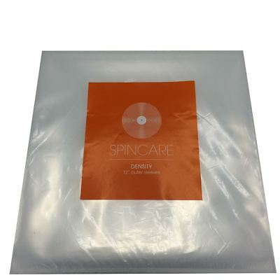 """100 Spin Care 12"""" Outer Vinyl LP Record Sleeves Covers 400 Gauge 1Mil"""
