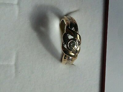 Bonito Anillo/ring De Oro Solido / Solid Gold Y Diamante/brillante