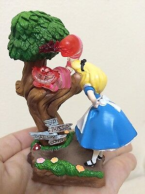 Disney Alice in Wonderland and Cheshire at Forest. Very Cute and Rare Item