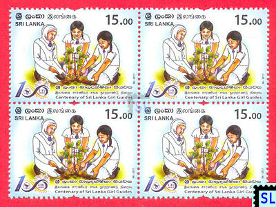 Sri Lanka Stamps 2017, Girl Guides Centenary, Scout, MNH