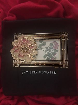 Jay Strongwater USA 4x6 **SIGNED** Floral Frame Swarovski Crystals $850 NEW/Box