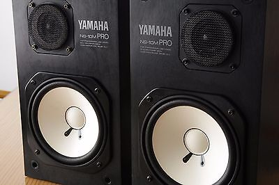 Yamaha NS-10M Pro Monitors Speakers Studio matched pair NS10M NS10 NS-10 Grilles