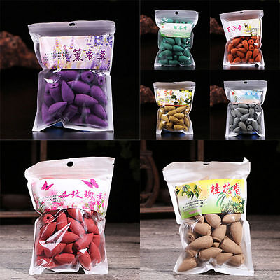 45Pcs Natural Bullet Backflow Incense Scent Smoke Hollow Cones Tower Buddhism
