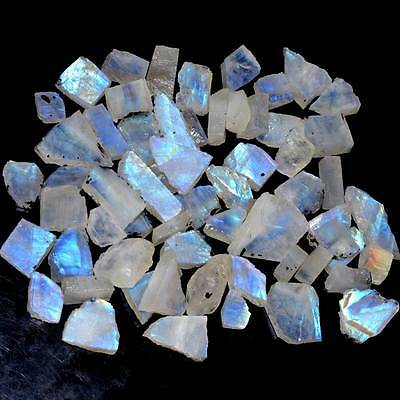 500 Cts 100% NATURAL BLUE FLASH RAINBOW MOONSTONE ROUGH MIND BLOWING AWESOME LOT