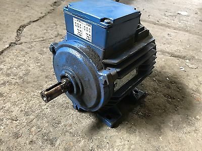 0.55kw 3/4hp 3 Phase Dual Voltage Electric Motor