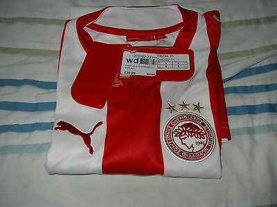 Puma Olympiacos Home Shirt Size S Was £39.99 Now £19.99
