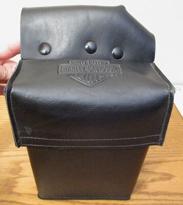 Harley Davidson Ultra Classic Electra Glide Tour Black Leather Tool Bag Pack