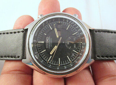 Vintage SEIKO CHRONOGRAPH Automatic Day-Date Japan Made COLLECTIBLE Watch @123
