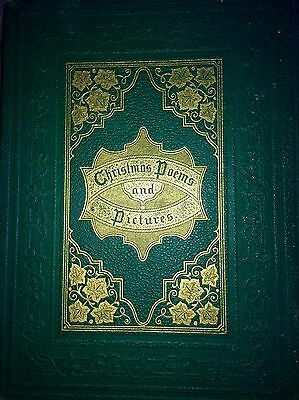Christmas Poems & Pictures-RARE early Victorian Christmas book-Thomas Nast-1864