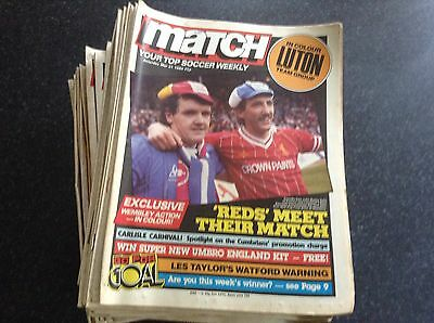 Match Weekly 1984 Individual Issues