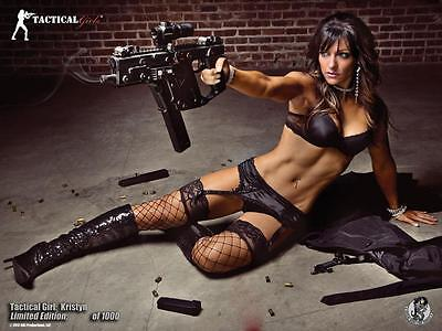 Hot Kriss Vector Tactical Girl Poster- Can Personally Sign