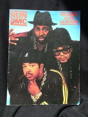RUN DMC - 1987 - Tougher Than Leather tour - concert program