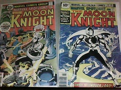 MOON KNIGHT in MARVEL SPOTLIGHT # 28 & 29 : the 1st TWO solo appearances 1976