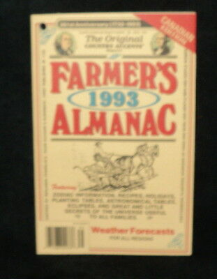 Canadian Farmers Almanac 1993 Weather Forecasts Horse Cart 261st Year