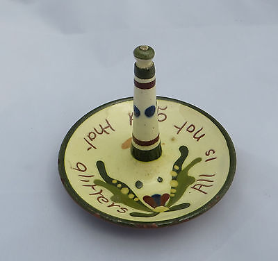 Watcombe Torquay Motto Ware Ring Stand - Scandy - All is not gold that glitters