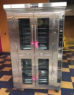 Used Doyon Double Rotating Gas Rack Oven, Model Ca12G
