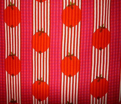 60er 70er VORHANG B 1,10 / H 150 -1,60m  60s curtain cortina a 60 70 STRAWBERRY