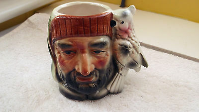 Spill Jar / Toby Jug Of A  ? Pirate  Parrot For Handle   No Maker