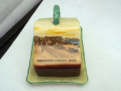 Vintage Coloured Model Of A Cheese Dish  Crested Morecambe Parade West By Gemm A