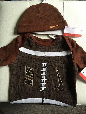 Nike Baby Boy Girl Outfit Set Body Hat 3-6 Months/ 6-9 Months, 9-12 Months Rugby