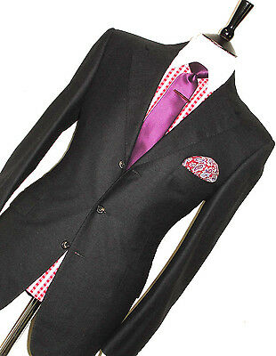 Mens Timothy Everest Savile Row Bespoke Business Charcoal Suit 42R W36 X L32