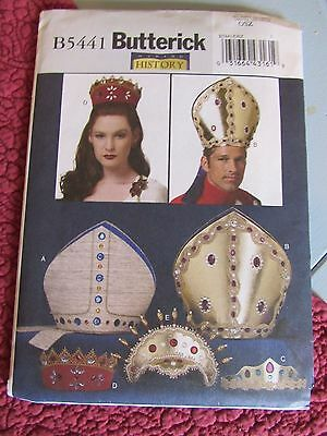 UNCUT Butterick Making History Pattern Renaissance Crowns