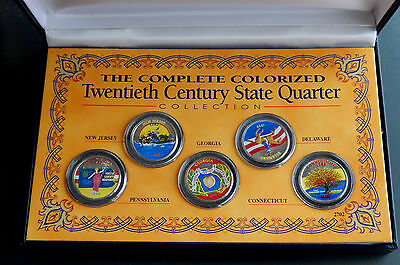 1999 USA Colorized State Quarter 25 Cents Collection SBS004