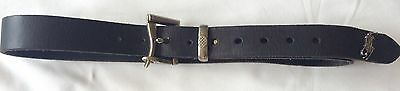 "Lovely genuine Ralph Lauren Polo 100% Italian Leather Belt 38"" long"