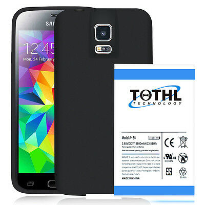 TQTHL A 8800mah Extended Battery For Samsung Galaxy S5 + TPU Case Cover