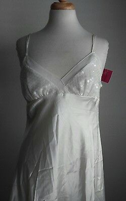 Enchanting Women's Ivory Sequin Nightgown Sz M