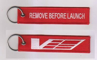 Cadillac CTS-V ATS-V V Sport Keychain Remote Fob REMOVE BEFORE LAUNCH 2 Side RED