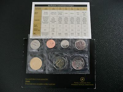 Canada 2006 Special Edition Uncirculated 7 Coin Set