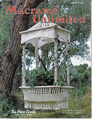 Vintage Macrame Unlimited Magazine 1970s  Weaving Plant cradle Hangings Jewelry
