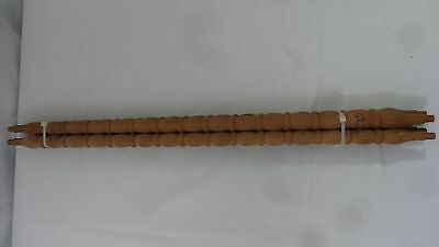 """Set of  Four (4) Carved Wood Stair Spindles Balusters - NOS - 25"""""""