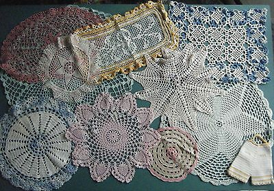 Antique Lace Colored Doilies Perfect Rare Pink Pineapple