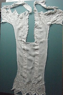 Antique Victorian? Edwardian? Lace Dress Fragment Damaged But Amazing