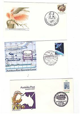 Australia 1978 /86 Group of Queensland Special Cancel Covers  ( 5 items )