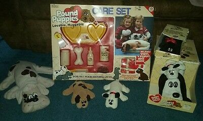 VINTAGE POUND PUPPIES CARE SET COMPLETE RARE w/Mommy & baby in box + extras