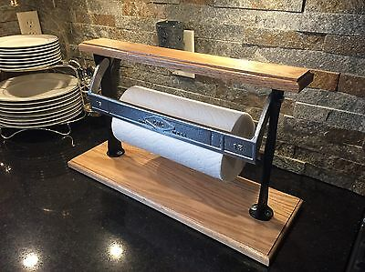 "Restored 15"" Butcher Paper Roll Dispenser Towel CMC Antique Vintage Cast Steel"