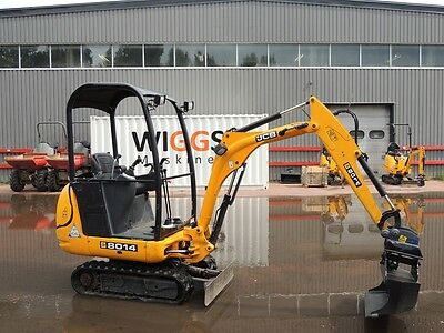 Jcb 8014  8016  8018 Mini Digger Complete Decal Stickers Set With Safty Warning