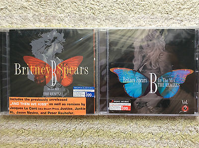Britney Spears JOB LOT B in mix : The Remixes Vol1-2 (THAILAND EDITION) POP RARE