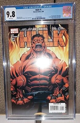 Hulk #1 - CGC 9.8 - 1st Red Hulk Appearance - White Pages - Brand New (2008)