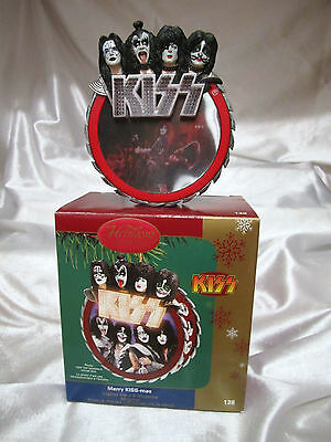 "CARLTON CARDS ""KISS-mas"" CHRISTMAS Ornament  Lights and Music NIB"
